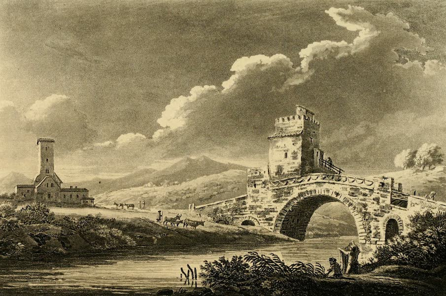 A Select Collection of Views and Ruins in Rome - Ponte Salaro (1815)
