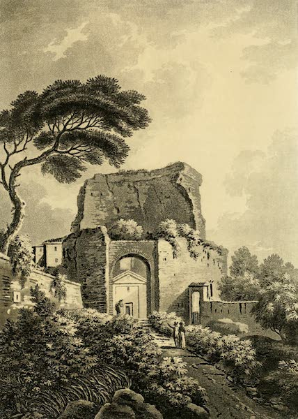 A Select Collection of Views and Ruins in Rome - Tower of Pignattara (1815)