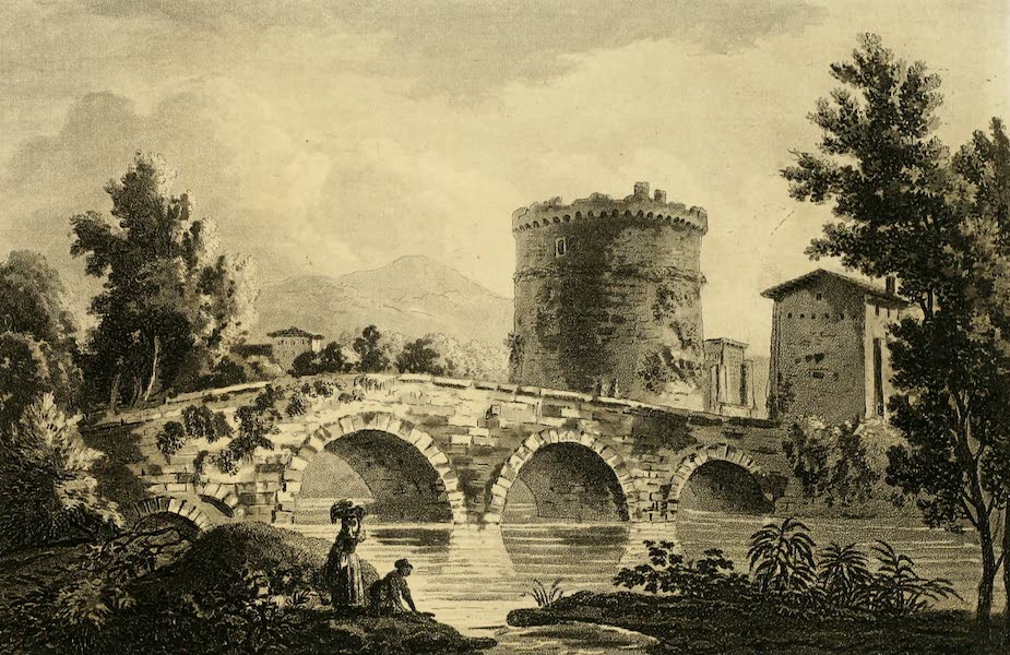 A Select Collection of Views and Ruins in Rome - Ponte Lucano (1815)