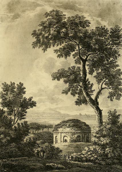 A Select Collection of Views and Ruins in Rome - Temple of Tussis or the God of Coughing (1815)