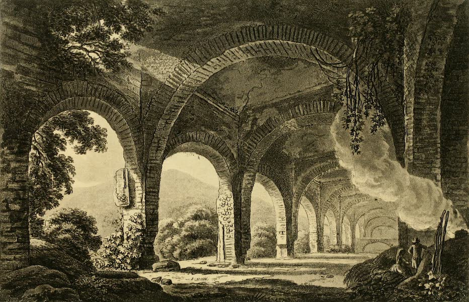 A Select Collection of Views and Ruins in Rome - Stables of Mecoenas Villa (1815)