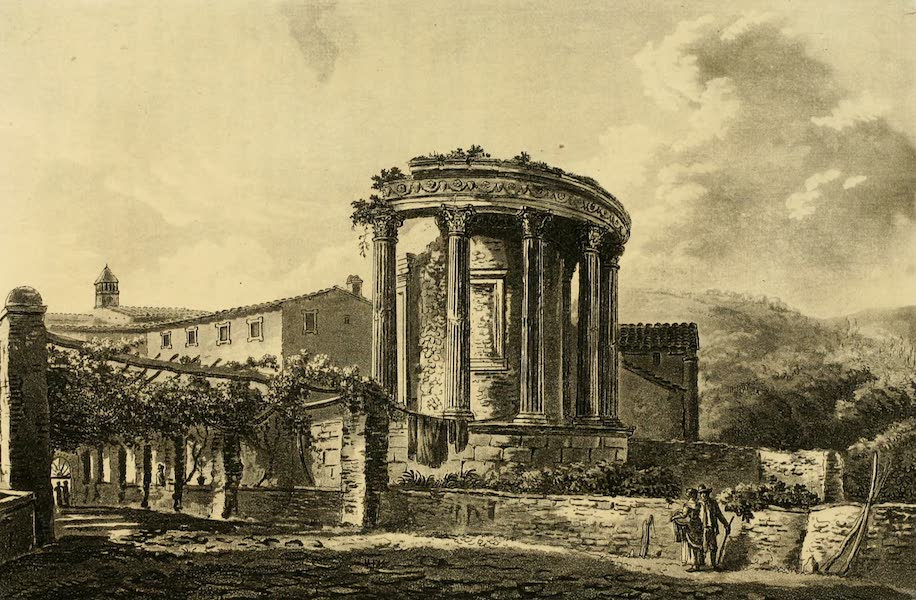 A Select Collection of Views and Ruins in Rome - Temple of the Sibill at Tivoli (1815)