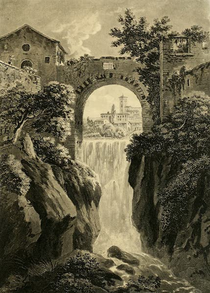 A Select Collection of Views and Ruins in Rome - Cascade of Tivoli (1815)