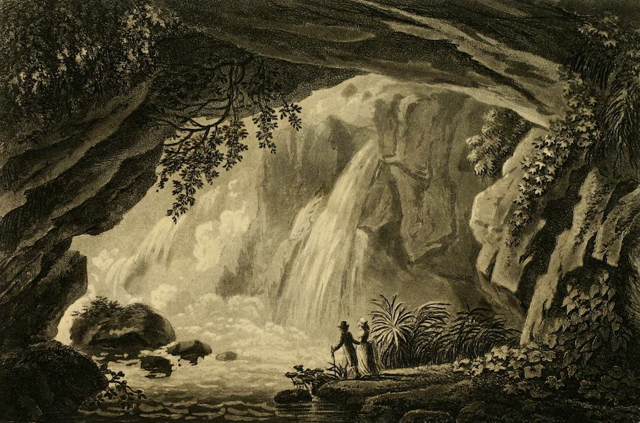 A Select Collection of Views and Ruins in Rome - Grotto of Neptune (1815)