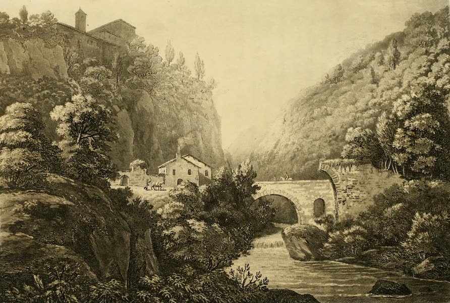 A Select Collection of Views and Ruins in Rome - Bridge near Vicovaro (1815)
