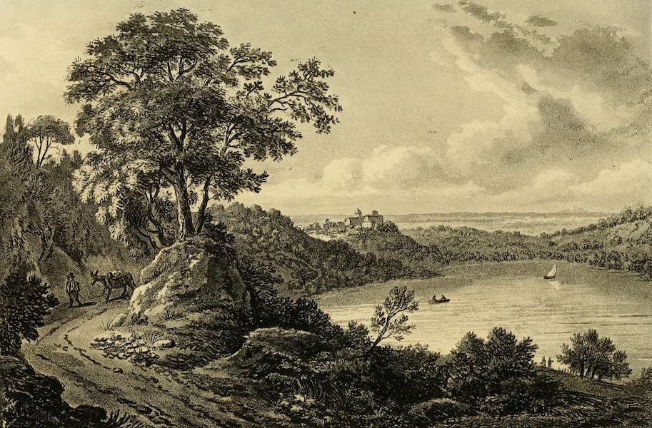 A Select Collection of Views and Ruins in Rome - Lake of Albano (1815)
