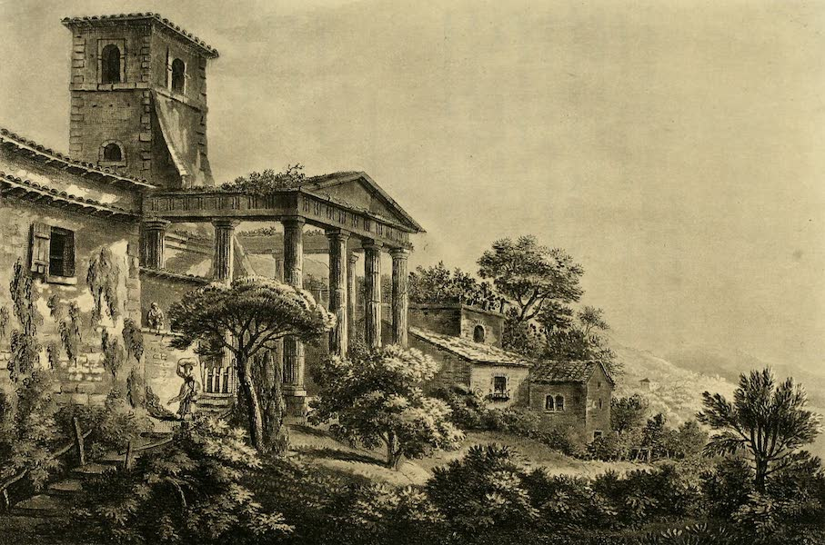 A Select Collection of Views and Ruins in Rome - Temple of Hercules at Cori (1815)