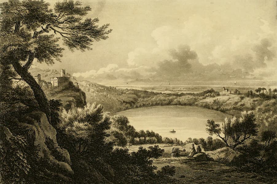 A Select Collection of Views and Ruins in Rome - Lake of Nemi (1815)