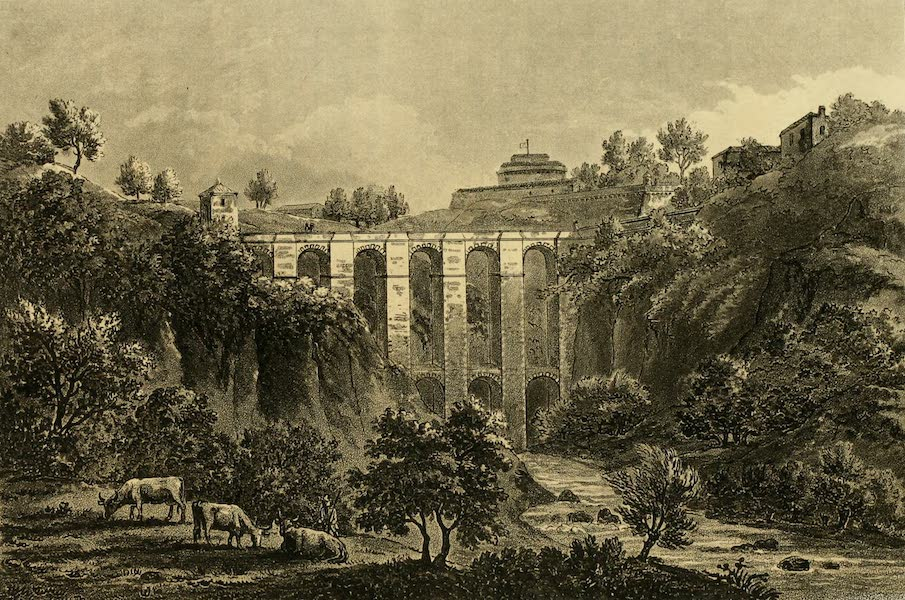A Select Collection of Views and Ruins in Rome - Bridge of Civita Castellana (1815)