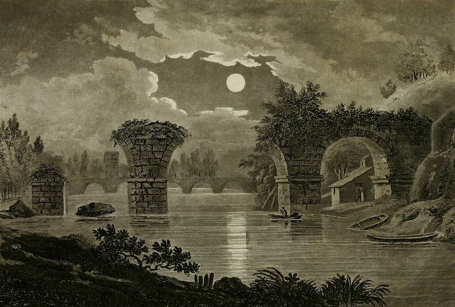 A Select Collection of Views and Ruins in Rome - Ruined Bridge at Narni (1815)
