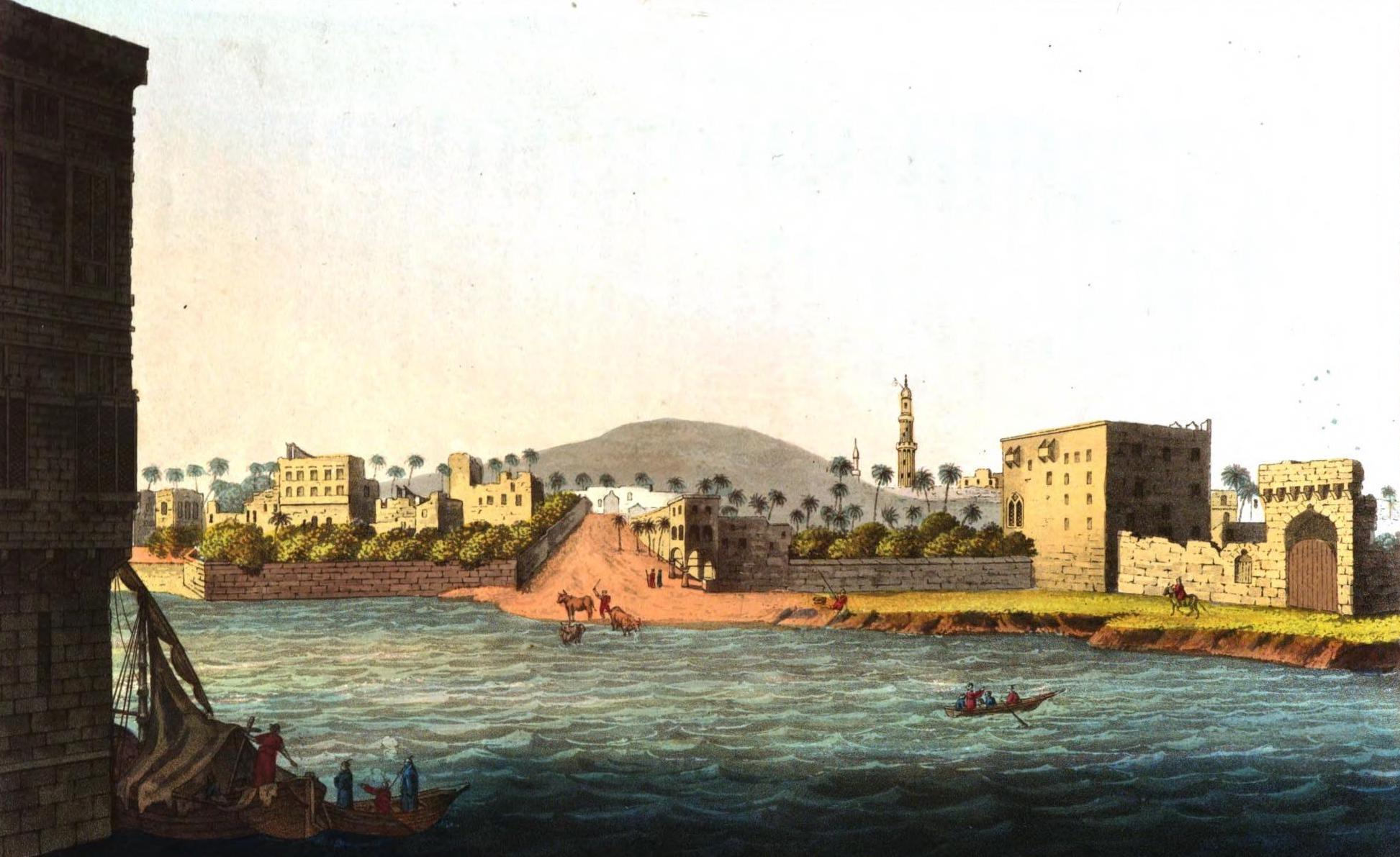 A Selection of Views in Egypt, Palestine, Rhodes, Italy, Minorca, and Gibraltar - Perspective View of Cairo (1822)