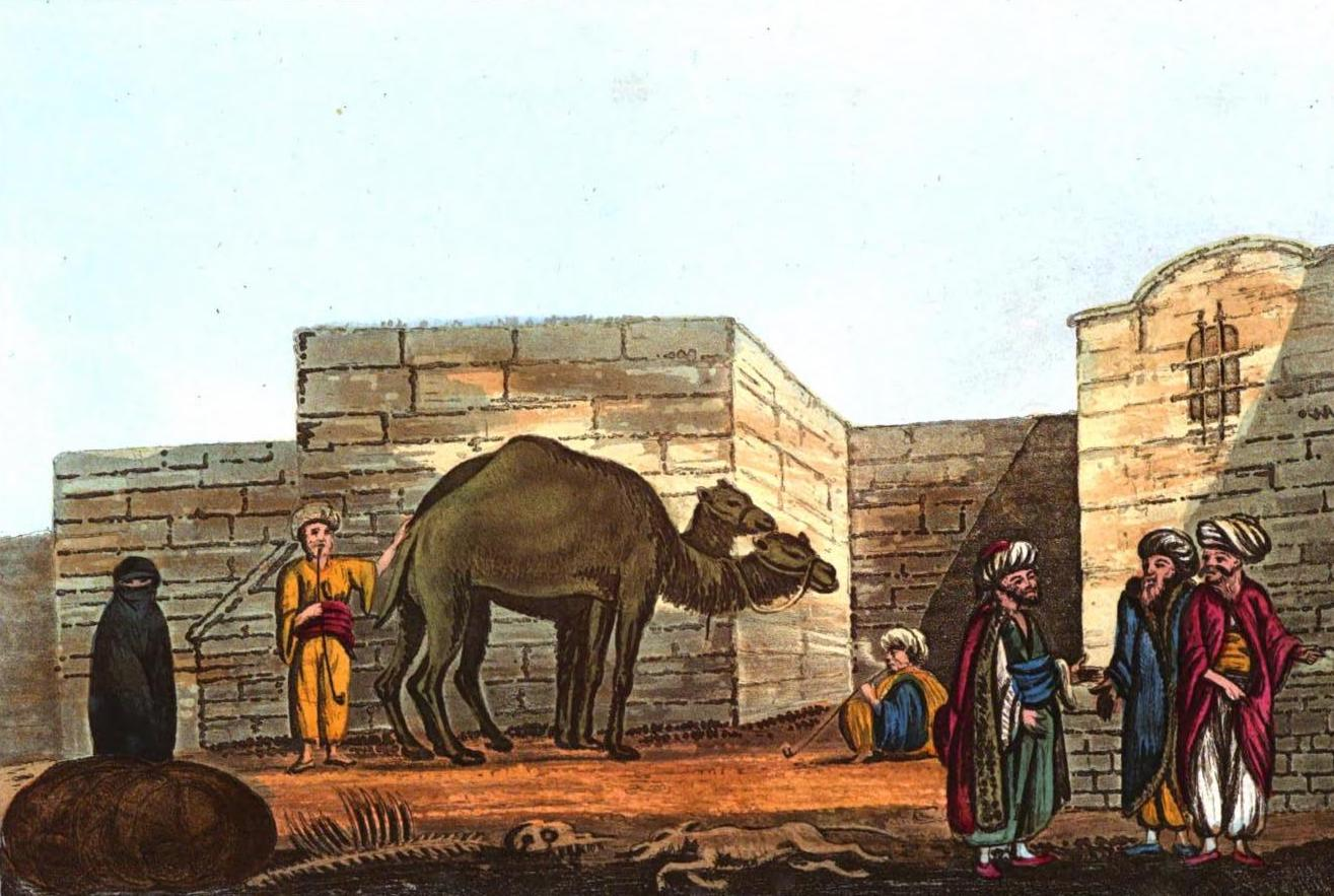 A Selection of Views in Egypt, Palestine, Rhodes, Italy, Minorca, and Gibraltar - A Street in Caiffe (1822)
