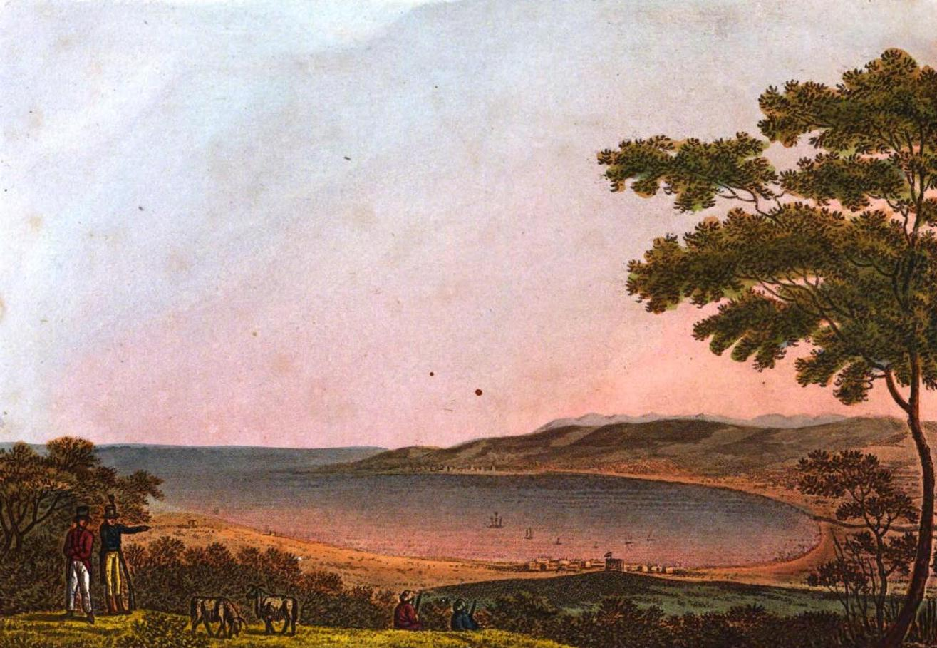 A Selection of Views in Egypt, Palestine, Rhodes, Italy, Minorca, and Gibraltar - The Bay of Acre, from the top of Carmel (1822)