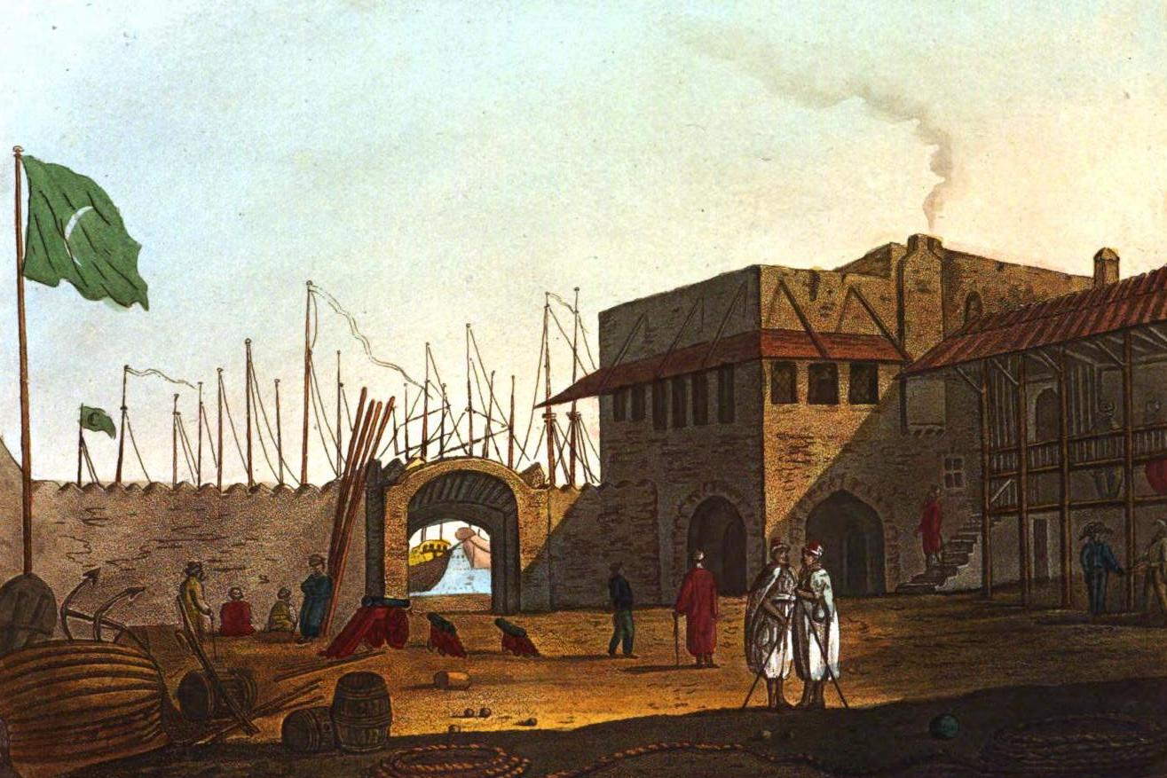 A Selection of Views in Egypt, Palestine, Rhodes, Italy, Minorca, and Gibraltar - Hassan Bey's Palace at Rhodes (1822)