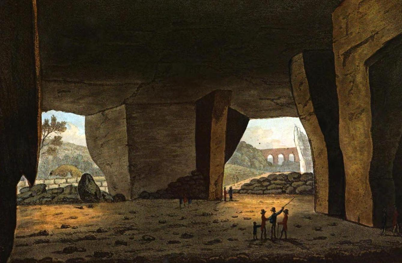 A Selection of Views in Egypt, Palestine, Rhodes, Italy, Minorca, and Gibraltar - Inside of a Cavern near Syracuse (1822)