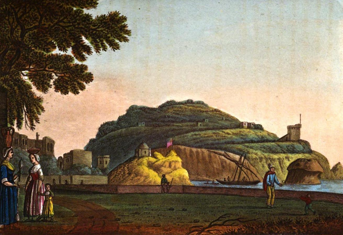 A Selection of Views in Egypt, Palestine, Rhodes, Italy, Minorca, and Gibraltar - View at Lago, in the Island of Ischia  (1822)