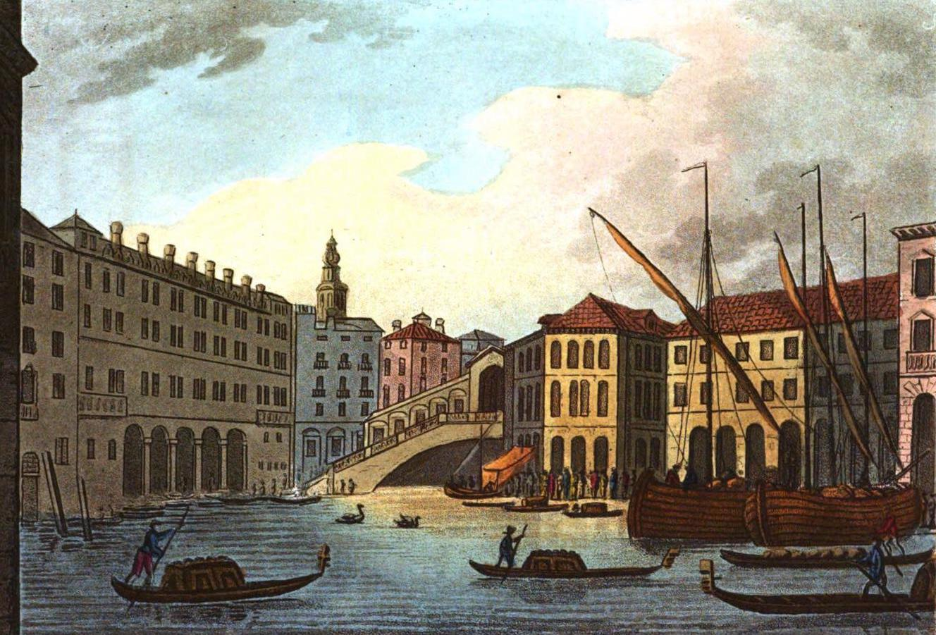A Selection of Views in Egypt, Palestine, Rhodes, Italy, Minorca, and Gibraltar - Grand Canal and the Rialto, Venice (1822)