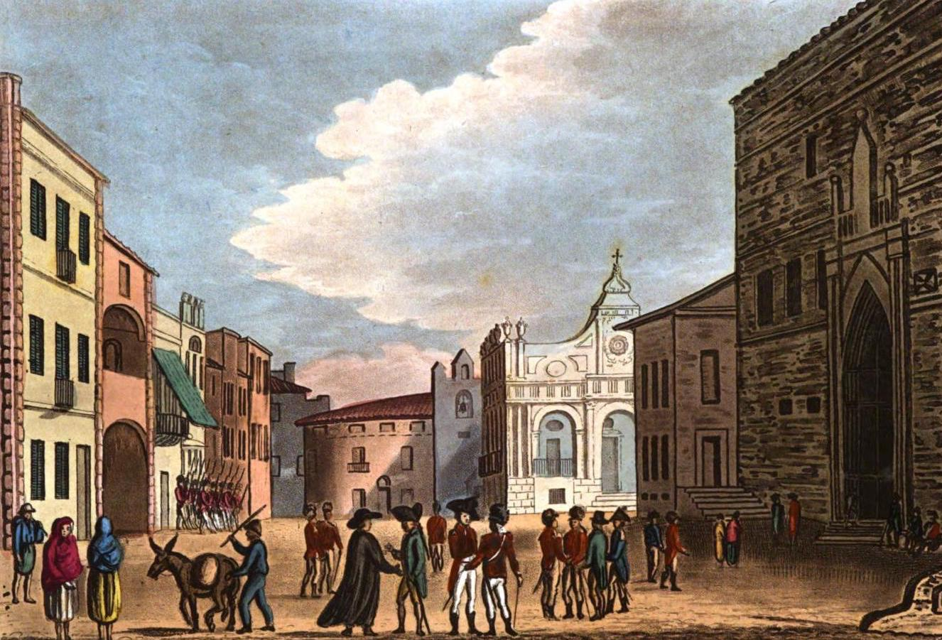 A Selection of Views in Egypt, Palestine, Rhodes, Italy, Minorca, and Gibraltar - Grand Parade, Mahon (1822)