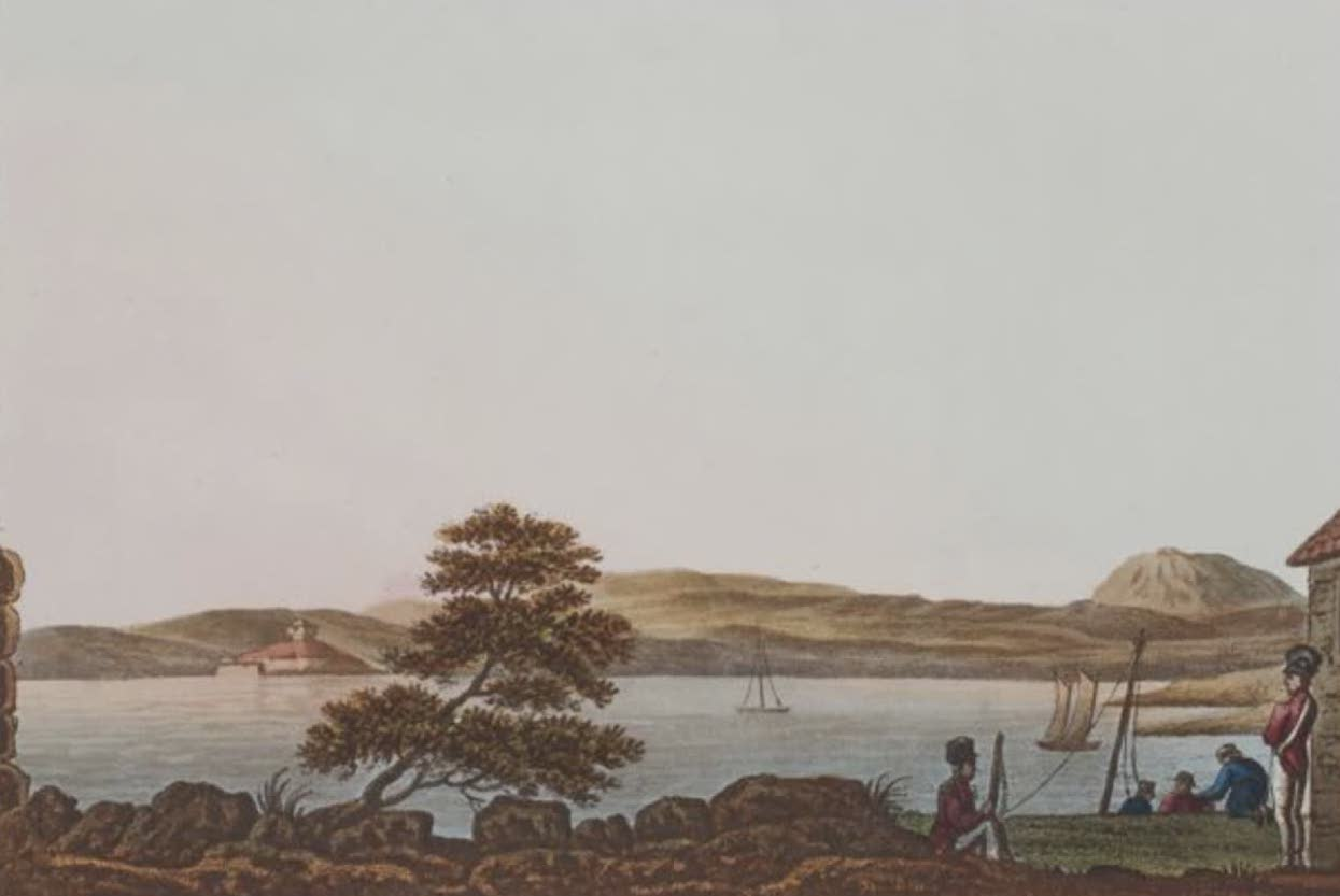 A Selection of Views in Egypt, Palestine, Rhodes, Italy, Minorca, and Gibraltar - The Bay of Fournells (1822)