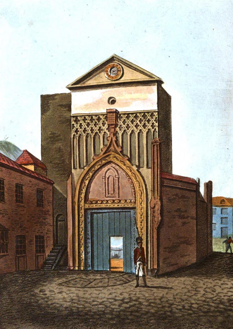 A Selection of Views in Egypt, Palestine, Rhodes, Italy, Minorca, and Gibraltar - Entrance to the Spanish Church, Gibraltar (1822)