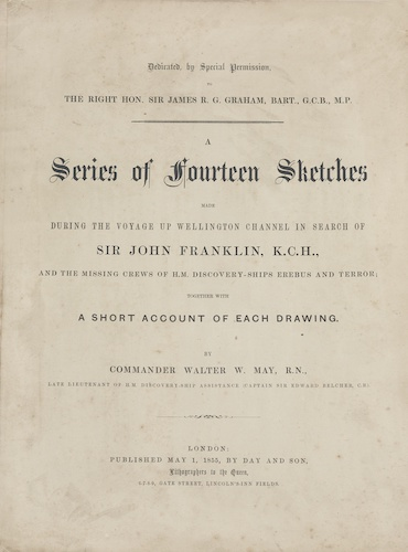 English - A Series of Fourteen Sketches Made During the Voyage Up Wellington Channel