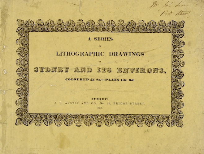 English - A Series of Lithographic Drawings of Sydney