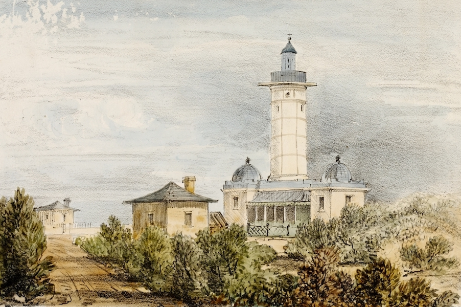 A Series of Lithographic Drawings of Sydney - South Head Light House (Port Jackson) (1836)