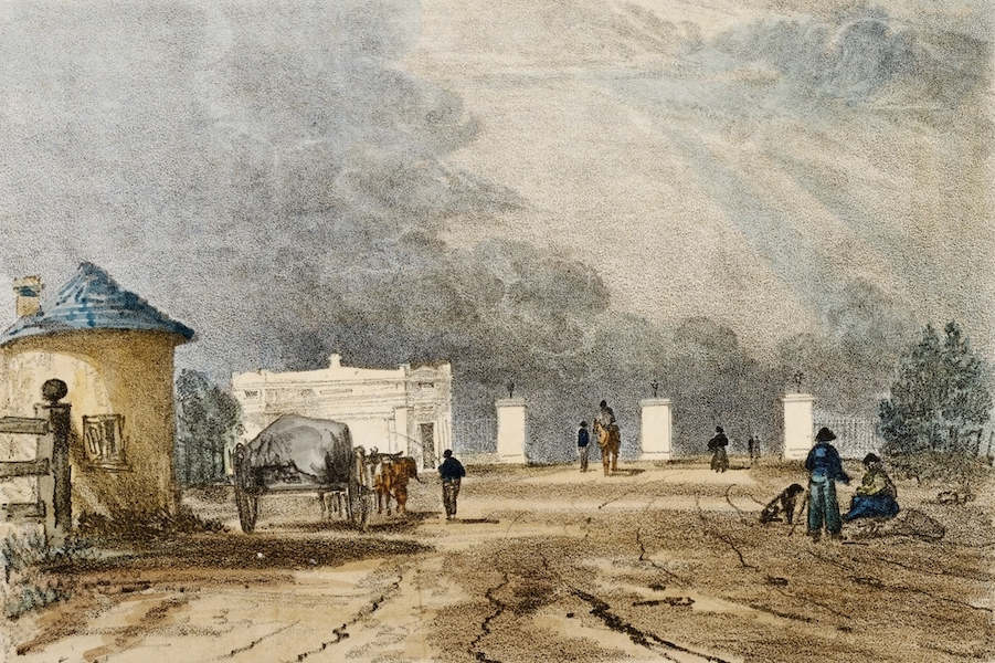 A Series of Lithographic Drawings of Sydney - New Toll Gate, Parramatta Road (1836)