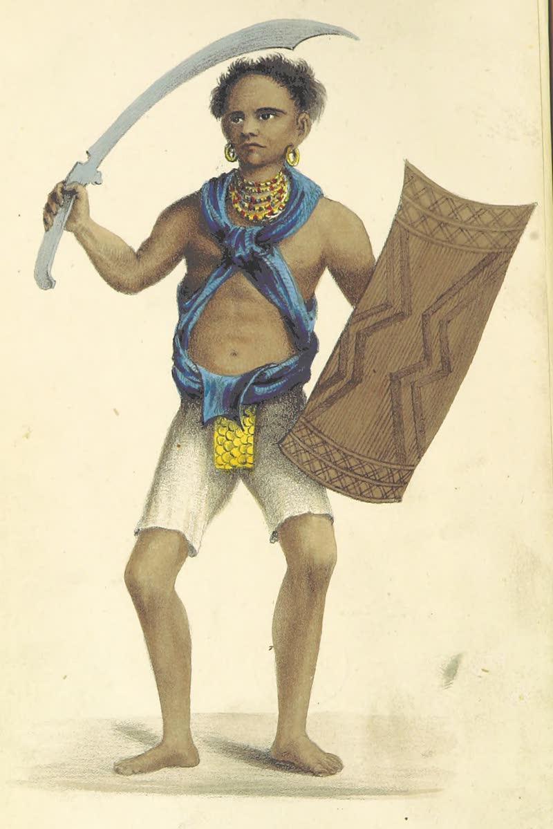 A Sketch of Assam - Garrow Warrior (1847)