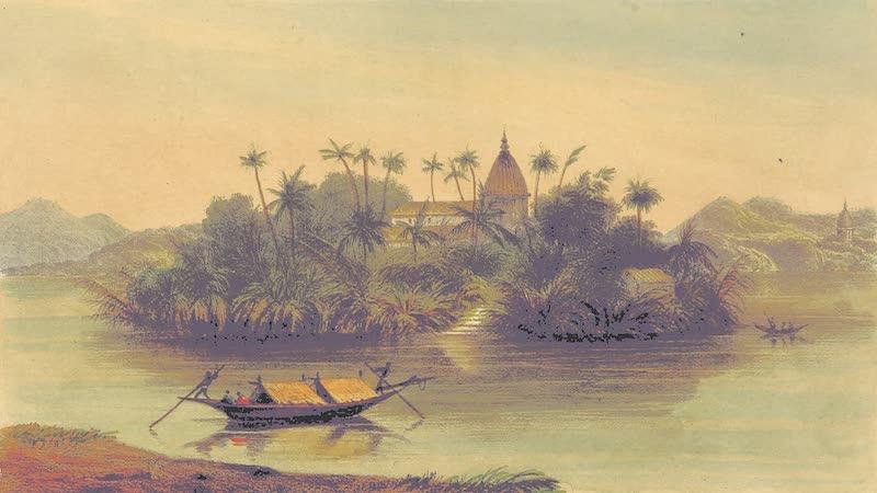 A Sketch of Assam - Omanund Island opposite Gowahatty (1847)