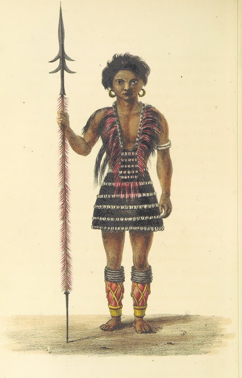 A Sketch of Assam - Angamee Naga Warrior (1847)