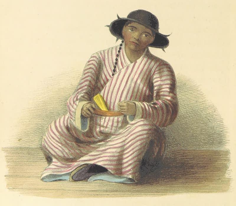 A Sketch of Assam - A Booteah Servant (1847)