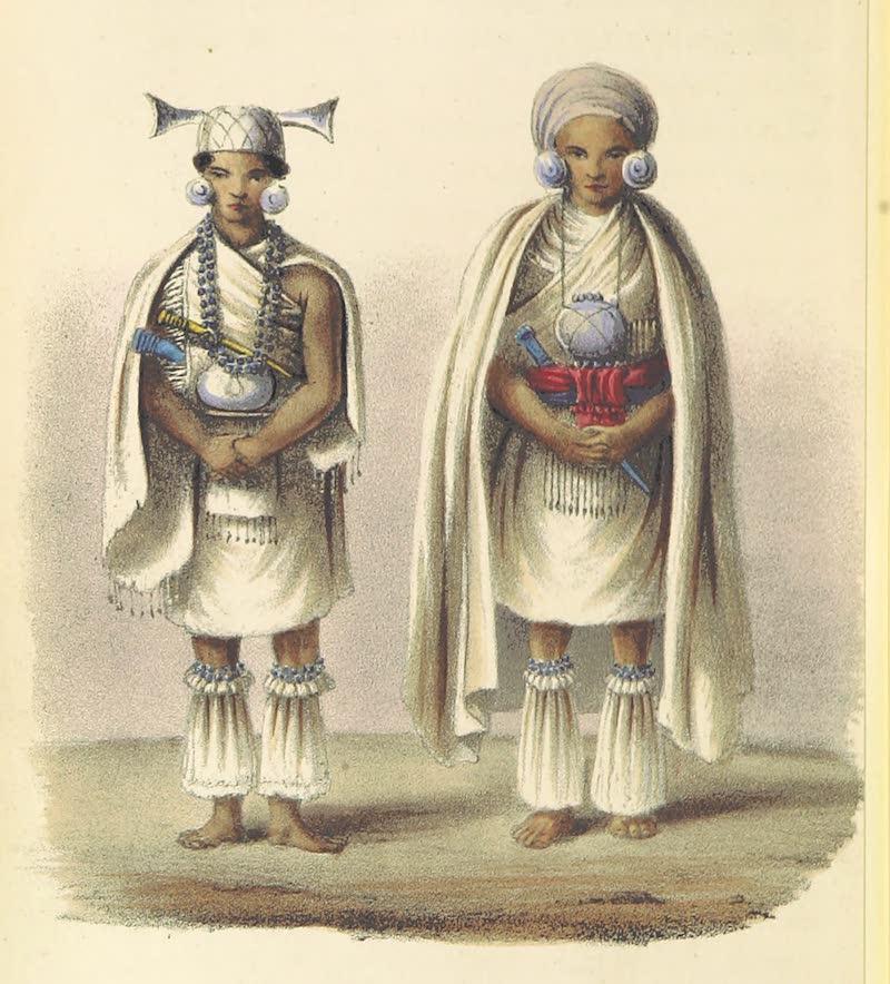 A Sketch of Assam - Cheegee Kuppachor Akha, brother of the Tagee Rajah / Kuppachor Akha, Tagee Rajah (1847)
