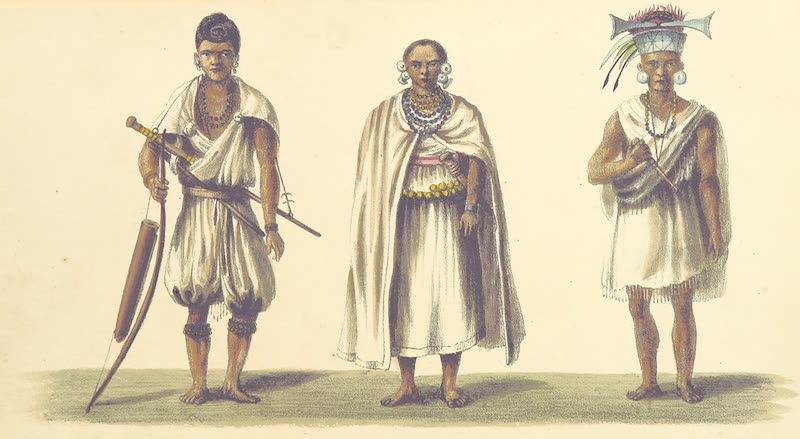 A Sketch of Assam - A Dufflah / A Dufflah Chief's Widow / A Dufflah Chief (1847)