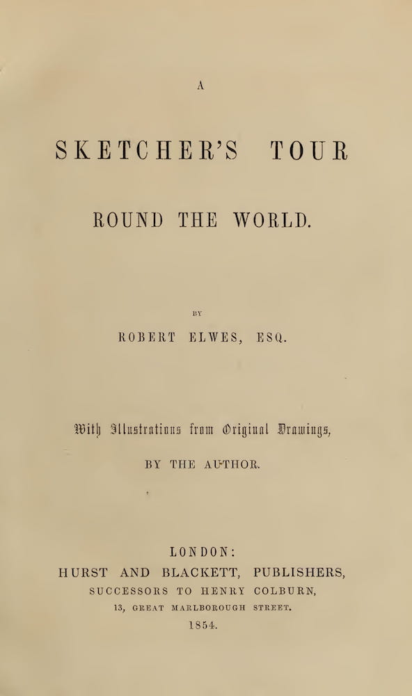 English - A Sketcher's Tour Round the World