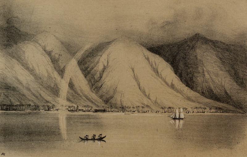 A Sketcher's Tour Round the World - Lahaina (1854)