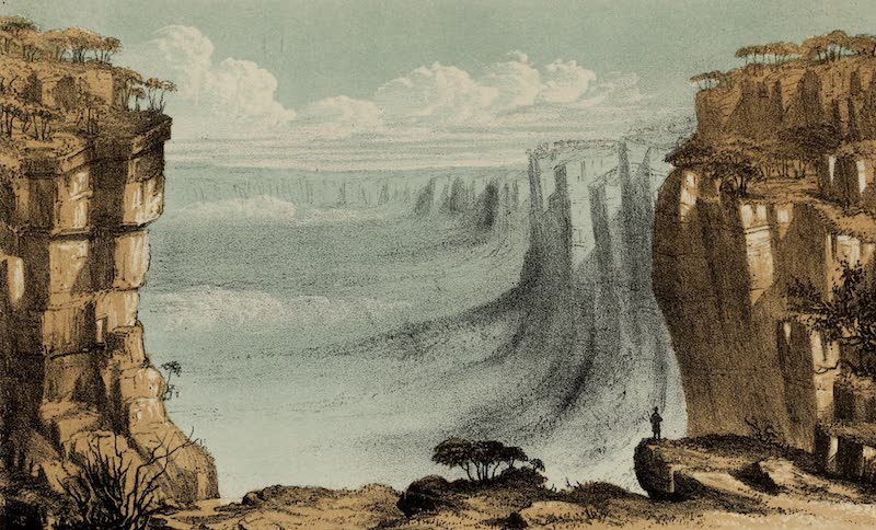 A Sketcher's Tour Round the World - Gulf at the Weatherboard (1854)