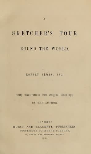 A Sketcher's Tour Round the World - Title Page (1854)