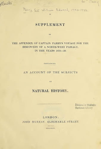 English - A Supplement to the Appendix of Captain Parry's Voyage