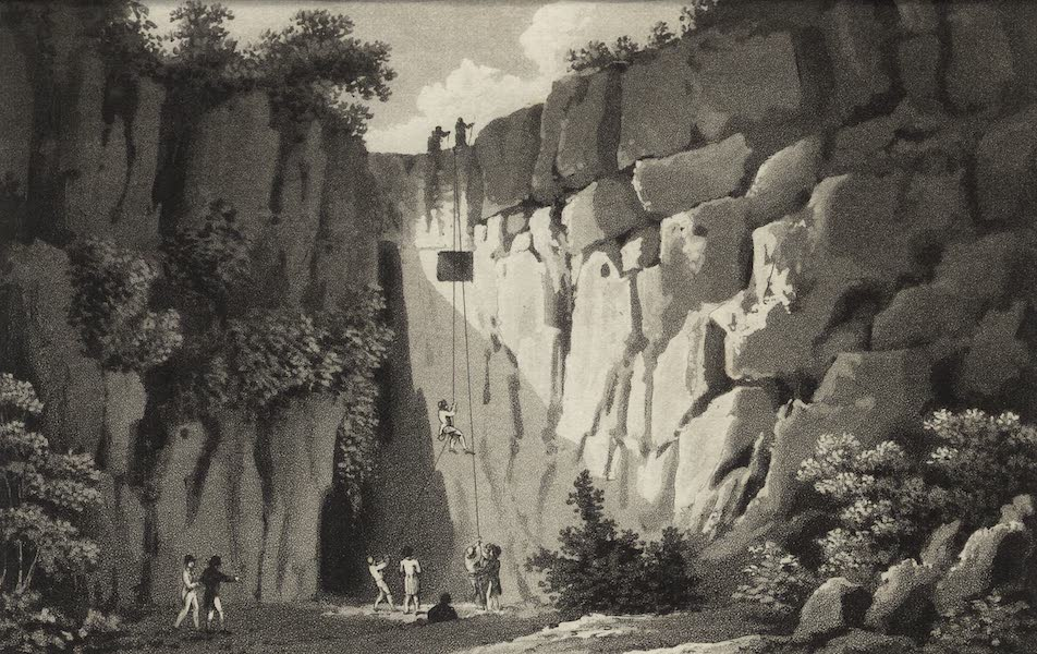 A Tour Through Sicily - Entrance of the Grotto commonly called the Ear of Dionysius (1819)