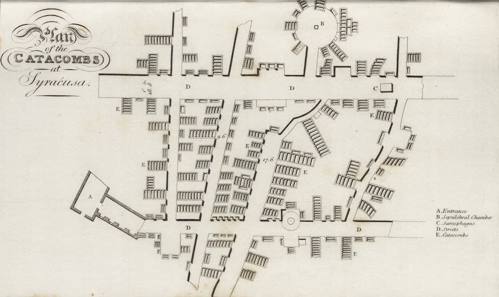 A Tour Through Sicily - Plan of the Catacombs at Syracusa (1819)