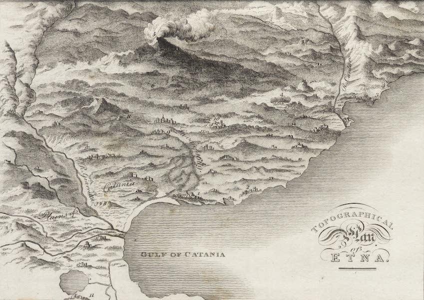 A Tour Through Sicily - Topographical Plan of Etna (1819)