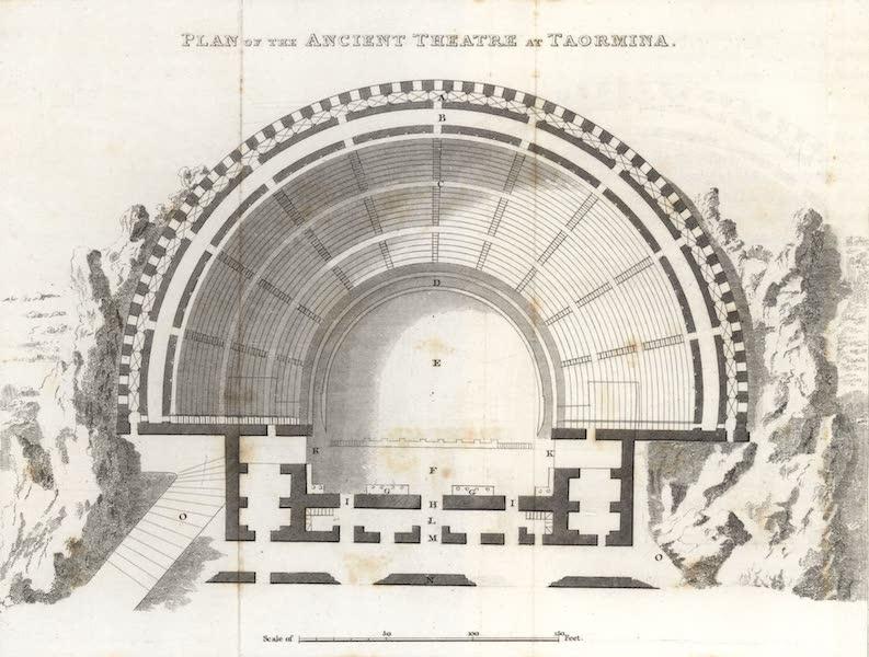 A Tour Through Sicily - Plan of the Ancient Theatre at Taormina (1819)