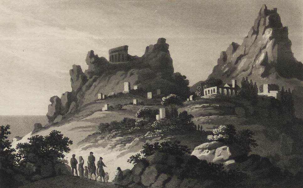 A Tour Through Sicily - View in the Environs of Taormina (1819)