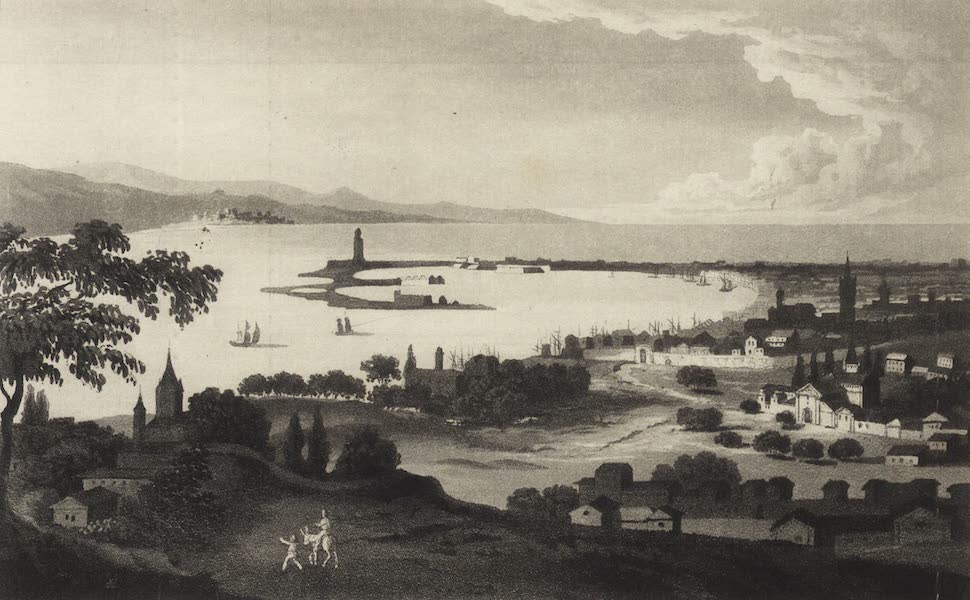 A Tour Through Sicily - Messina and the Entrance to the Faro, with Reggio and the Coast of Calabria (1819)