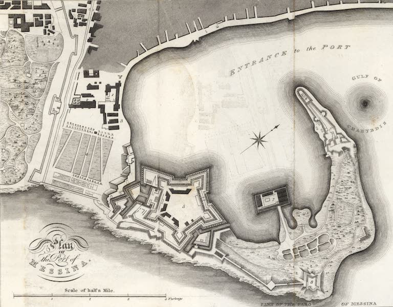 A Tour Through Sicily - Plan of the Port of Messina (1819)
