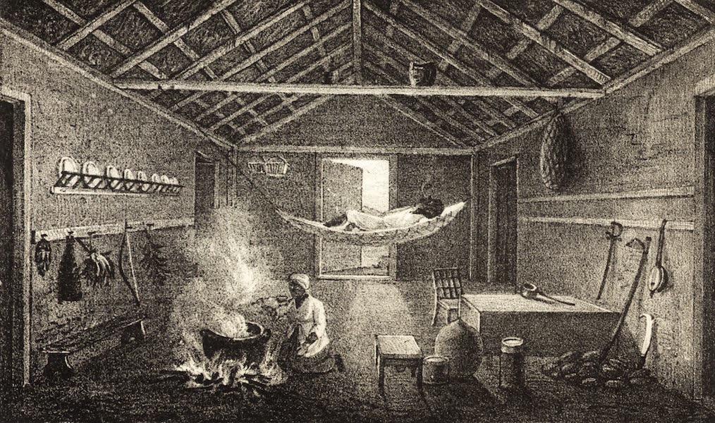 A Tour Through the Island of Jamaica - Interior of a Negro House (1826)