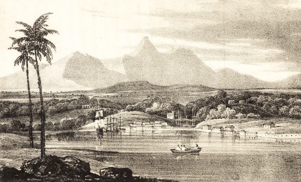A Tour Through the Island of Jamaica - Port Antonio, Jamaica at Sunrise from the Sea (1826)