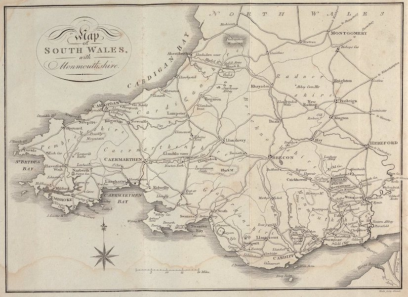 A Tour Throughout South Wales and Monmouthshire - The Map (1803)