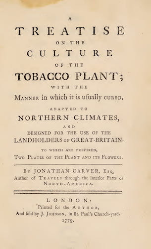 Aquatint & Lithography - A Treatise on the Culture of the Tobacco Plant